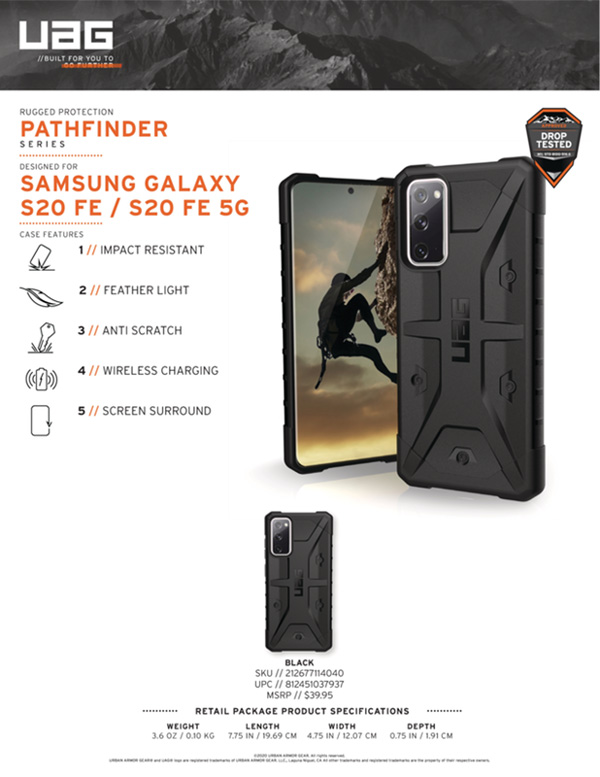Op lung Samsung Galaxy S20 FE FE 5G UAG Pathfinder 13 bengovn